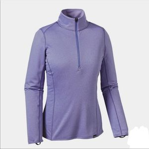 Patagonia Capilene Half 3/4 Zip Purple Long Sleeve